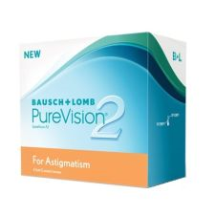 Purevision 2 for Astigmatism 2pck עדשות מגע צילינדר חודשיות