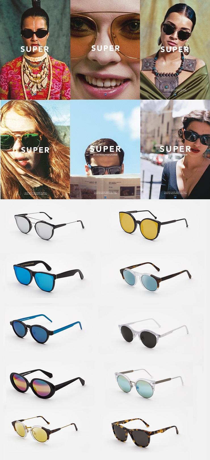 מסגרות משקפי שמש ומשקפי ראיה super retro
